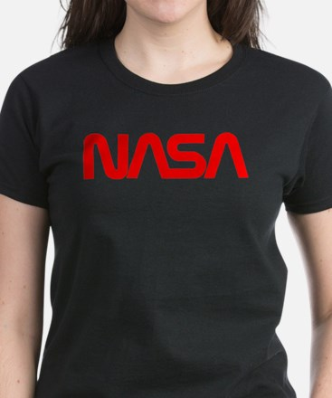 NASA Worm Logo Women's Dark T-Shirt