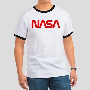 NASA Worm Logo Ringer T