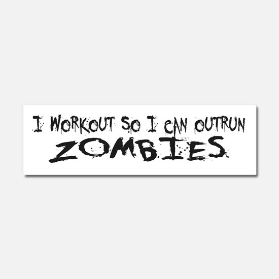 Outrun Zombies 1a Car Magnet 10 x 3