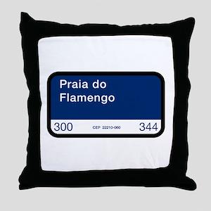Praia do Flamengo, Rio de Janeiro (BR) Throw Pillo