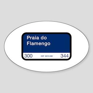 Praia do Flamengo, Rio de Janeiro (BR) Sticker (Ov