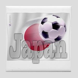Soccer Flag Japan Tile Coaster