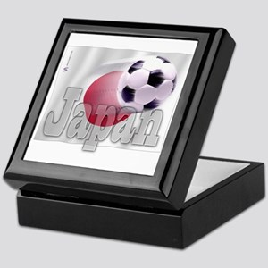 Soccer Flag Japan Keepsake Box