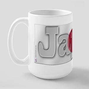 Soccer Flag Japan Large Mug