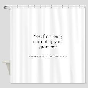 Grammar Freak Shower Curtain