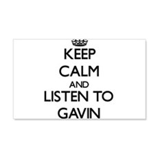 Keep Calm and Listen to Gavin Wall Decal