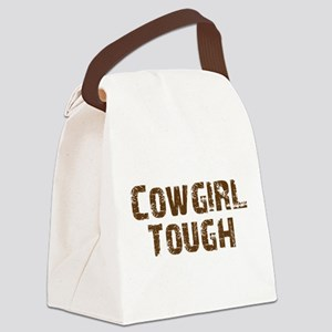 cowgirl_tough_brown Canvas Lunch Bag