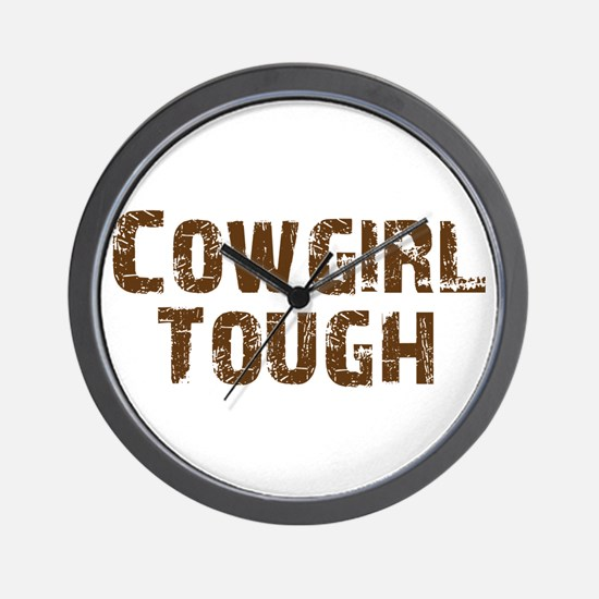 Cowgirl_tough_brown.png Wall Clock