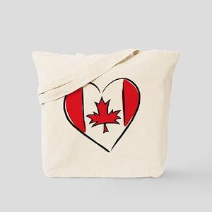 Heart Canada Tote Bag