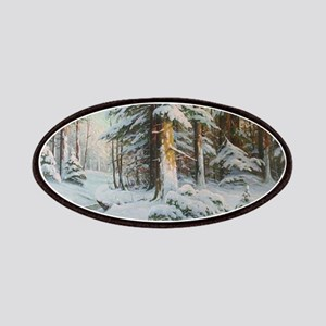 Winter Forest Scene Patches