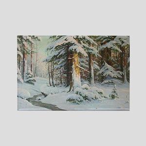 Winter Forest Scene Magnets