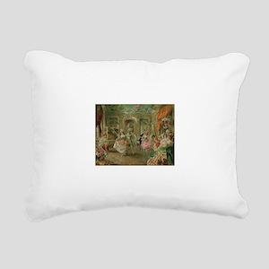 Rococo Dance Party Rectangular Canvas Pillow