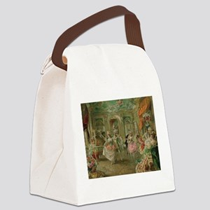 Rococo Dance Party Canvas Lunch Bag