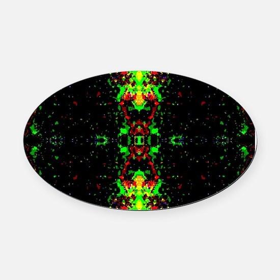 Unique Colorful brain Oval Car Magnet