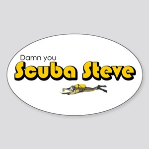Scuba Steve Oval Sticker