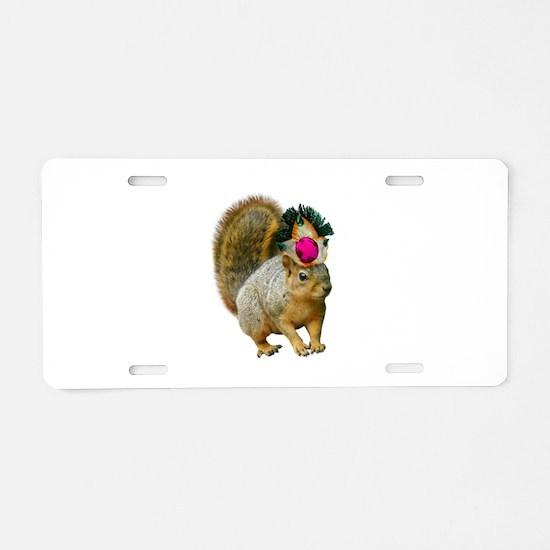 Queen Squirrel Aluminum License Plate
