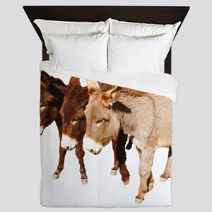 Wild Burro Buddies Queen Duvet
