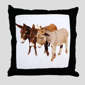 Wild Burro Buddies Throw Pillow