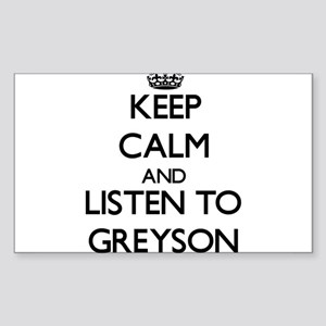 Keep Calm and Listen to Greyson Sticker