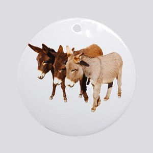 Wild Burro Buddies Round Ornament
