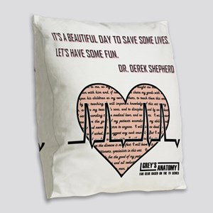 ITS A BEAUTIFUL... Burlap Throw Pillow