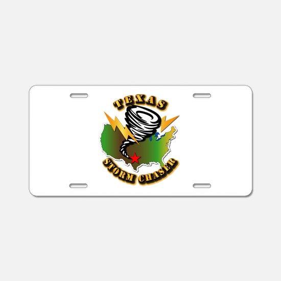 Storm Chaser - Texas Aluminum License Plate