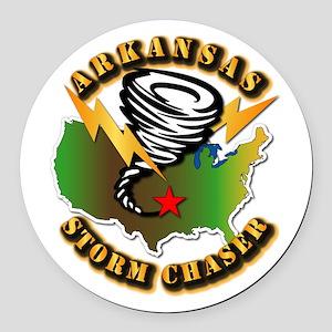 Storm Chaser - Arkansas Round Car Magnet