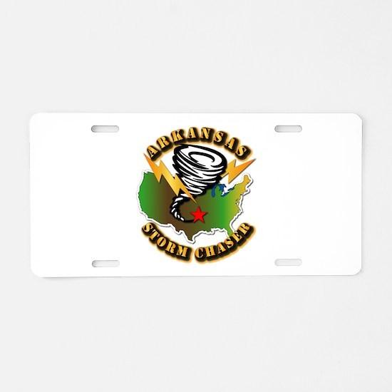 Storm Chaser - Arkansas Aluminum License Plate