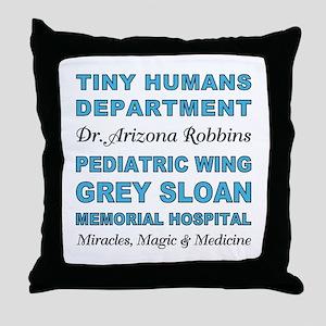 TINY HUMANS Throw Pillow