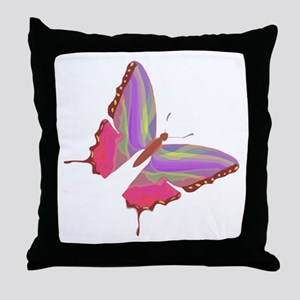 Butterfly Color Throw Pillow