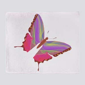 Butterfly Color Throw Blanket