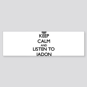 Keep Calm and Listen to Jadon Bumper Sticker