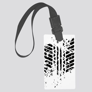 Tire Track Large Luggage Tag