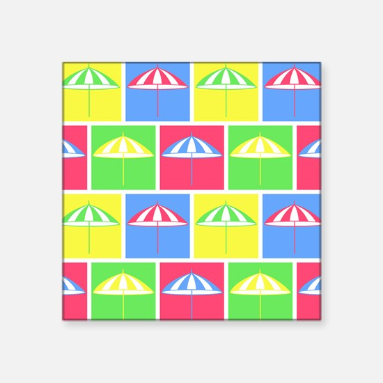 Colorful parasol pattern Sticker