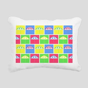 Colorful parasol pattern Rectangular Canvas Pillow