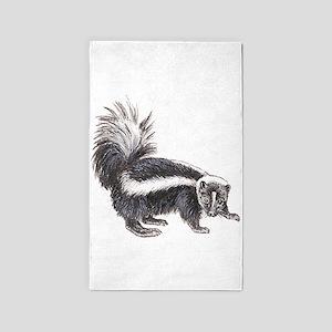 skunk drawing 3'x5' Area Rug