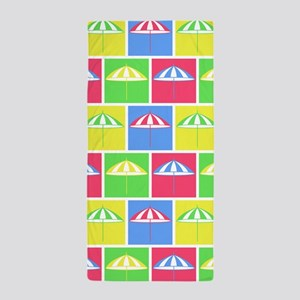 Colorful parasol pattern Beach Towel