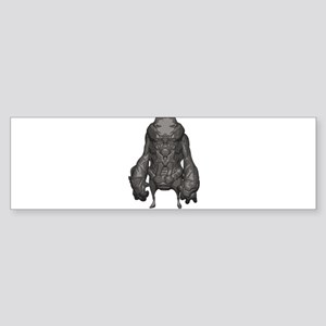 Outer Space Warrior Alien Bumper Sticker