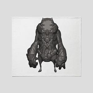 Outer Space Warrior Alien Throw Blanket