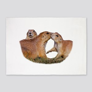 Prairie Dog Kiss 5'x7'Area Rug