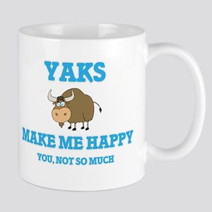 Yaks Make Me Happy Mugs