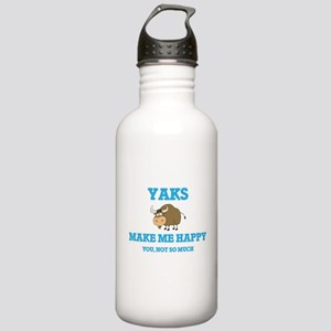 Yaks Make Me Happy Stainless Water Bottle 1.0L