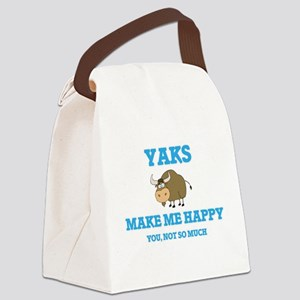 Yaks Make Me Happy Canvas Lunch Bag