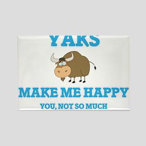 Yaks Make Me Happy Magnets