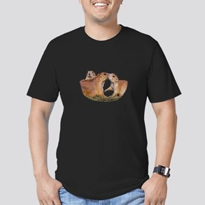 Prairie Dog Kiss Men's Fitted T-Shirt (dark)