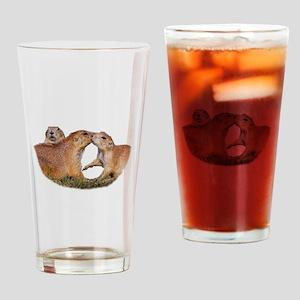 Prairie Dog Kiss Drinking Glass