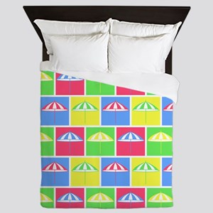 Colorful parasol pattern Queen Duvet