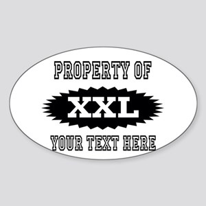 Personalize Property Of XXL Sticker