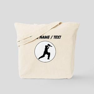 Custom Cricket Player Circle Tote Bag