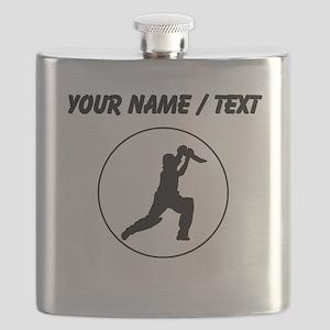 Custom Cricket Player Circle Flask